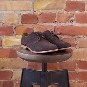 Topman Brown Suede Dress Shoe